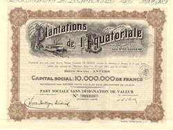 Plantations de l' Equatoriale 1927