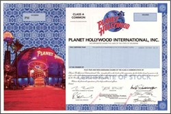 Planet Hollywood SPECIMEN with Demi Moore, Bruce Willis, Governor Arnold Schwarzenegger and Sylvester Stallone