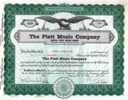 Platt Music Company 1928 - California