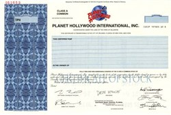 Planet Hollywood International, Inc. - Delaware ( Demi Moore, Governor Arnold Schwarzenegger, Sylvester Stallone and Bruce Willis )