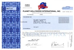 Planet Hollywood International, Inc. - Delaware 2001