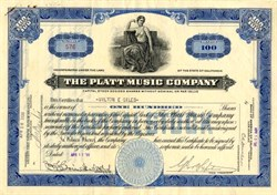 Platt Music Company - Los Angeles, California 1930