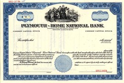 Plymouth-Home National Bank (Became Bank of New England )  - Massachusetts