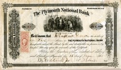 Plymouth National Bank - Massachusetts 1865