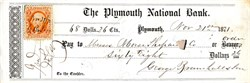 Plymouth National Bank - Plymouth, Massachusetts 1871