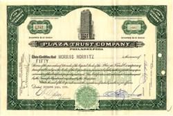 Plaza Trust Company - Philadelphia, Pennsylvania  1929