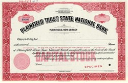 Plainfield Trust State National Bank - New Jersey