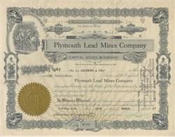 Plymouth Lead Mines Company 1927
