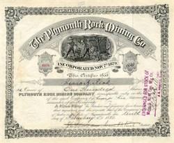 Plymouth Rock Mining Company 1880