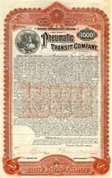 Pneumatic Transit Company - New Jersey 1898