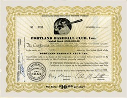 Portland Baseball Club, Inc. ( Portland Beavers)  - Oregon 1955