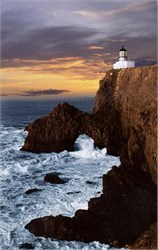 Point Bonita Lighthouse Postcard - Marin County, California