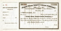 Point Clear Improvement Company - Point Clear, Alabama 1880's