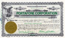Portafone Corporation - Arizona 1972