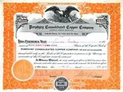 Porphyry Consolidated Copper Company - Globe, Arizona 1919