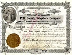 Polk County Telephone Company (Certificate #1) - Nebraska 1904