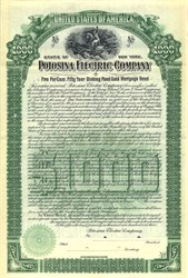 Potosina Electric Company - New York 1903