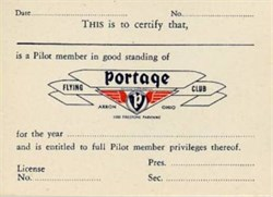 Portage Flying Club - Akron, Ohio 1946