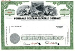 Portland General Electric (formerly owned by the Houston-based Enron Corporation) - Oregon 1967