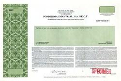 Ponderosa Industrial, S.A de C.V. - United Mexican States