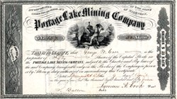 Portage Lake Mining Company - Michigan 1855