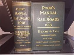 Poor's Manual of Railroads (original book ) -  1918