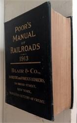 Poor's Manual of Railroads (original book ) - 1913