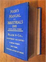 Poor's Manual of Industrials (original book ) - 1916