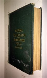 Manual of the Railroads of the United States - Henry V. Poor  (original book ) - 1871-72