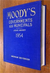 Moody's Governments and Municipals (American and Foreign) - 1954