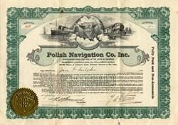 Polish Navigation Company - Delaware 1920