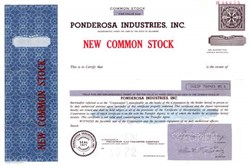 Ponderosa Industries, Inc.