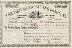 Portland Paving Company  signed by George W. Bush 1891