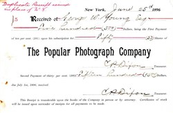 Popular Photograph Company - New York 1896