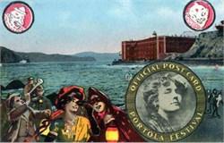 Portola Festival Postcard - Celebrate recovery from 1906 San Francisco earthquake