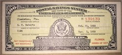 Postal Savings System $200 Note  - Series of 1917