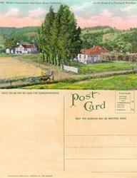 Postcard from Burke's Sanatorium near Santa Rosa, California