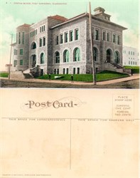 Postcard from the Custom House, Fort Townsend, Washington