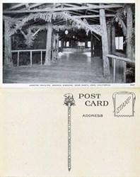 Postcard from the Dancing Pavilion, Sequoia Gardens, Near Santa Cruz, California