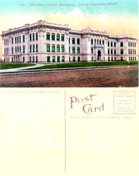 Postcard from Everett High School, Washington 1910