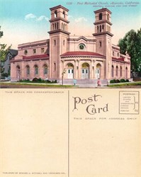 Postcard from the First Methodist Church, Alameda, California