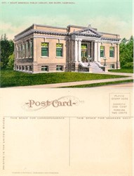 Postcard from the Kraft Memorial Library, Red Bluff, California