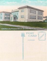 Postcard from the Lottie Grunsky Grammar School, Stockton, California