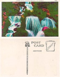 Postcard from the Lower Falls, Shasta Springs, California