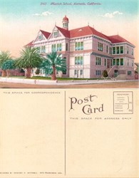Postcard from the Mastick School, Alameda, California
