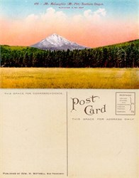 Postcard from Mt. McLaughlin (Mt. Pitt), Southern Oregon