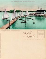 "Postcard from the Oregon Yacht Club, ""The Oaks"", Portland, Oregon"