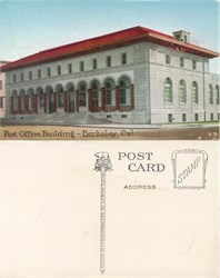 Postcard from the Post Office Building, Berkeley, California