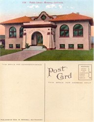 Postcard from the Public Library, Monterey, California