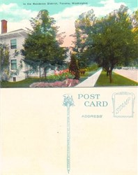 Postcard from the Residence District Tacoma, Washington